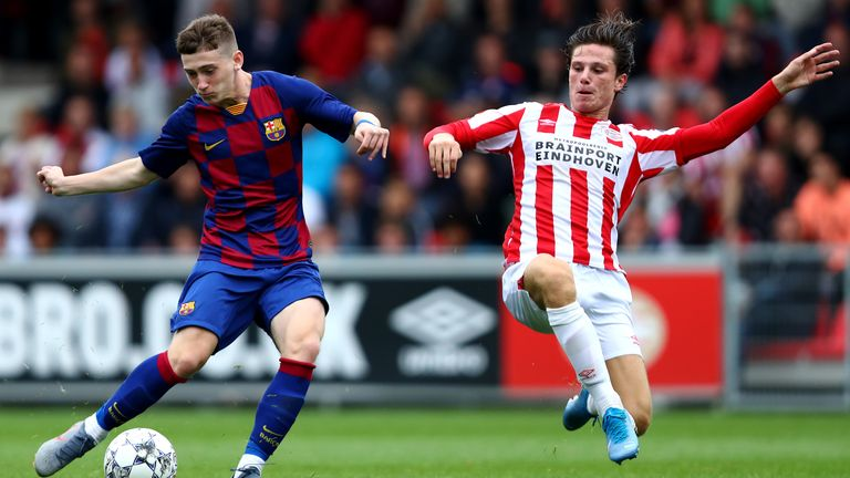 Barry has made three UEFA Youth League appearances for Barcelona this campaign