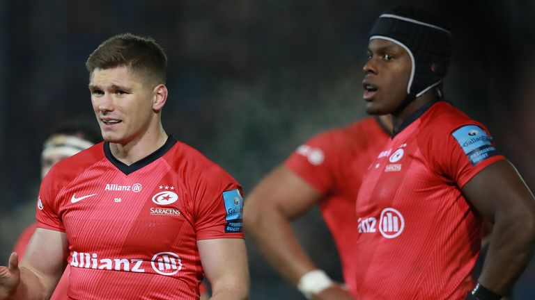 Saracens duo Owen Farrell and Maro Itoje helped England to the World Cup final