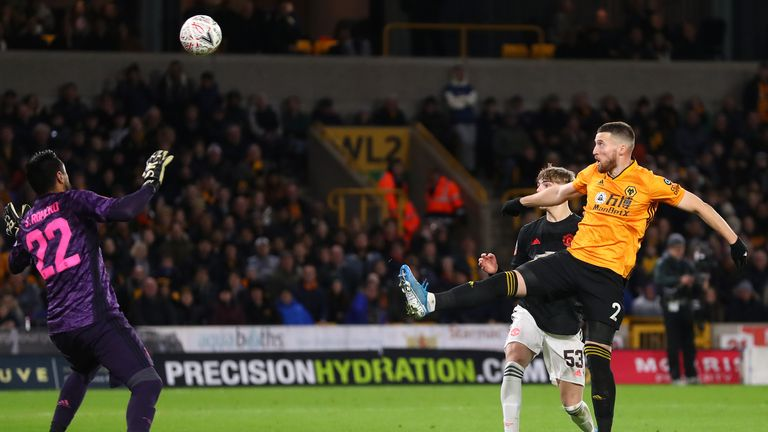 Matt Doherty was denied by VAR as Manchester United held Wolves