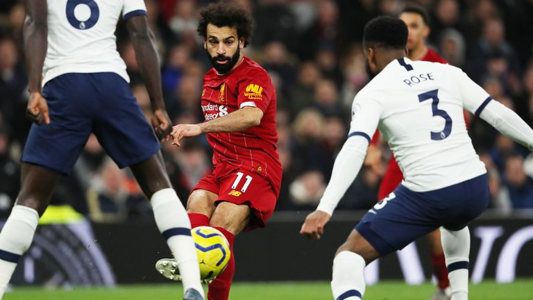 Salah set up Roberto Firmino's winner against Tottenham