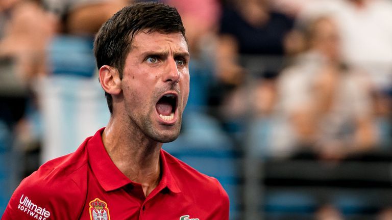 Novak Djokovic helped his country Serbia to a clean sweep of Canada at the ATP Cup
