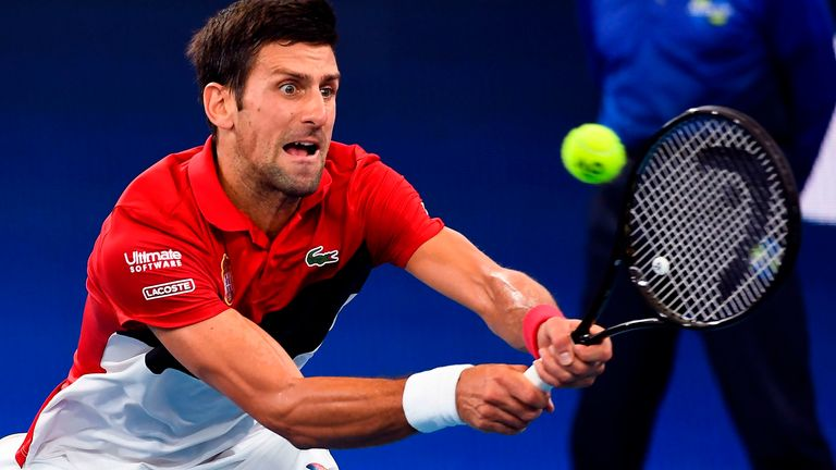 Novak Djokovic was stretched to produce some of his best tennis to get over the line