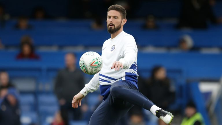 Olivier Giroud could reunite with his former Chelsea boss Antonio Conte
