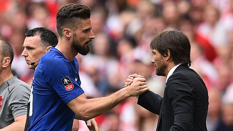 Olivier Giroud could leave Chelsea in January - Frank Lampard