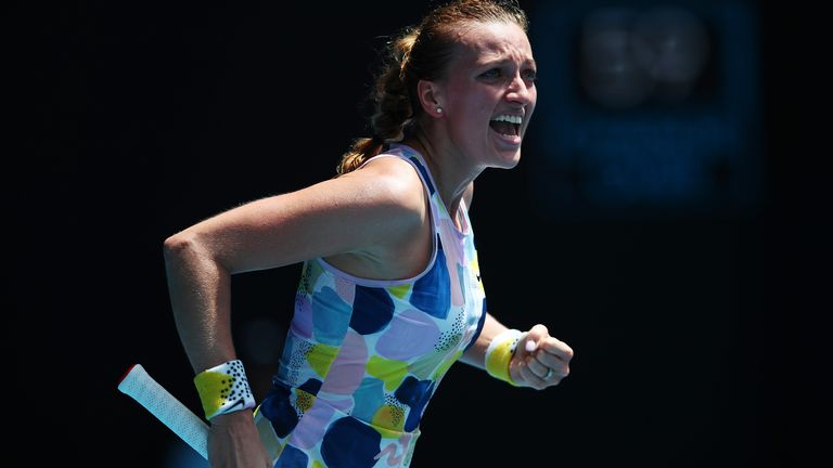 Petra Kvitova had not dropped a set in Melbourne this fortnight before playing Maria Sakkari