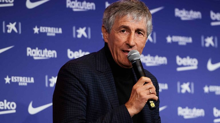 Setien was unveiled as new head coach of Barcelona