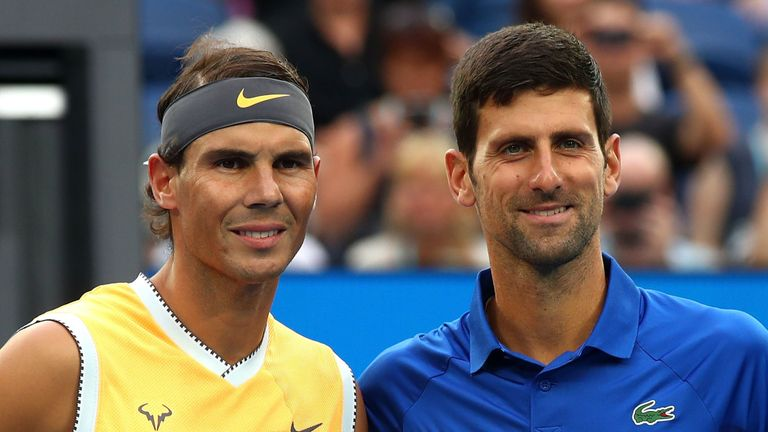 The world No 1 and 2 will meet for the 55th time in the final of the ATP Cup