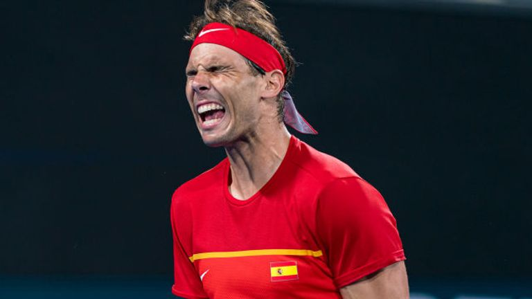 Nadal showed his frustrations out on court against his great rival