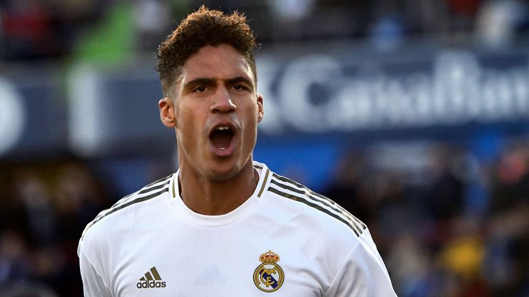 Raphael Varane was on target for Real Madrid in a 3-0 win at Getafe