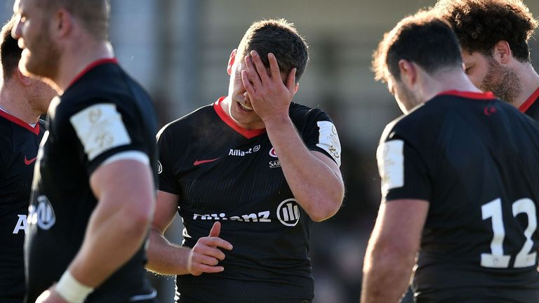Saracens were relegated to the Premiership for persistent salary cap breaches