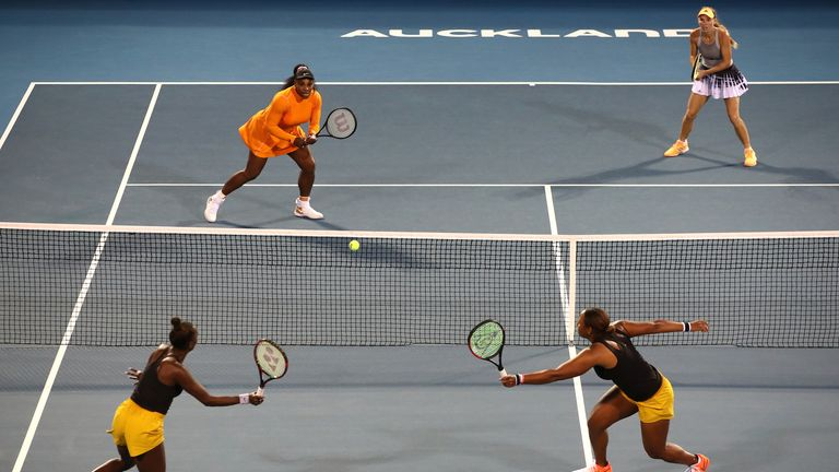 The pair enjoyed their doubles experienced, despite not taking home the title