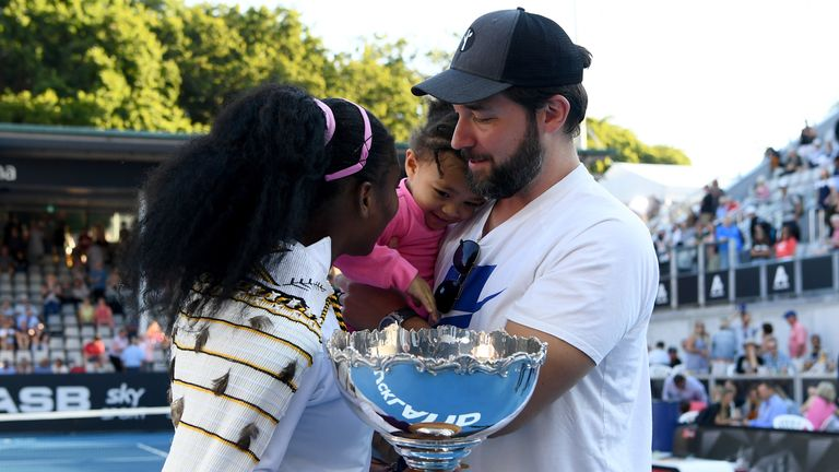 Serena Williams, husband Alexis Ohanian and daughter Alexis Olympia