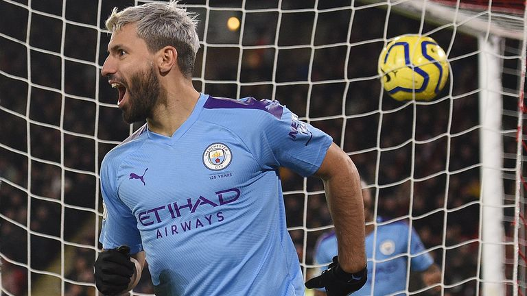 Sergio Aguero is hunting down entry to the 200 club