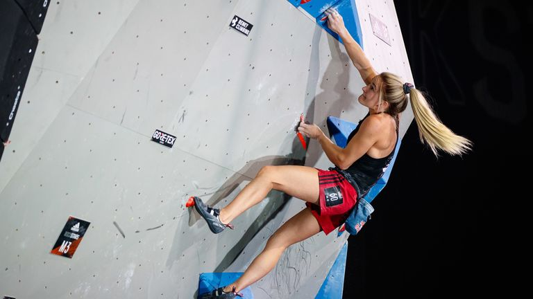 Coxsey won the IFSC (International Federation of Sport Climbing) Bouldering World Cup in 2016 and 2017