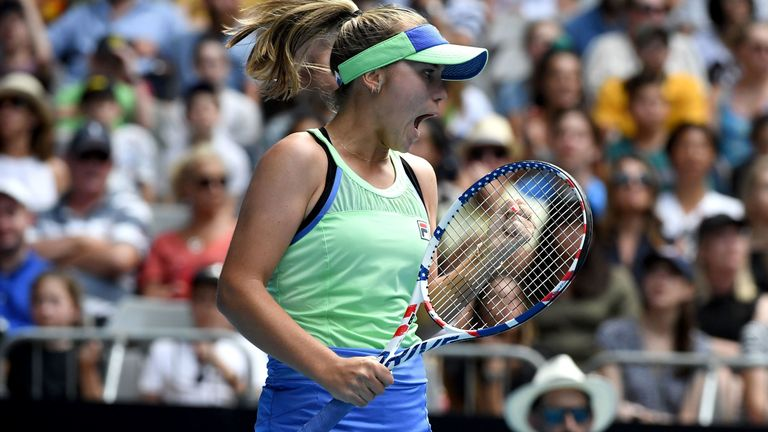 Sofia Kenin reached her first Grand Slam quarter-final