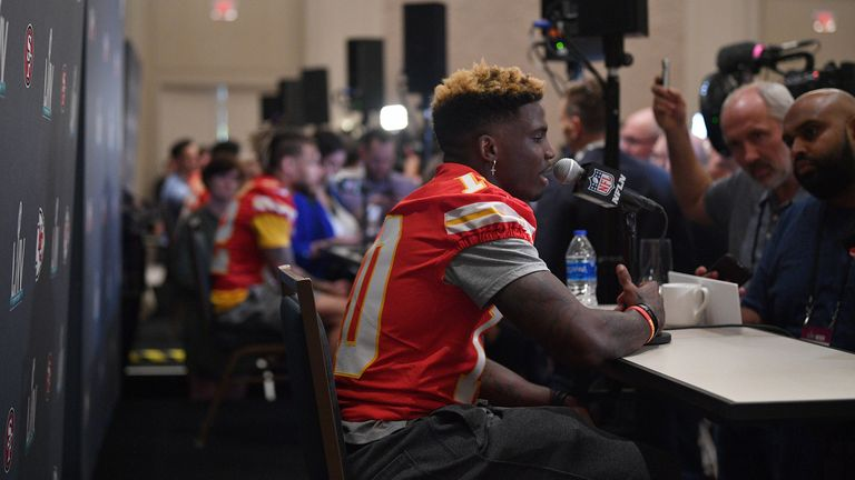 The Chiefs and San Francisco 49ers held their first individual media days on Tuesday