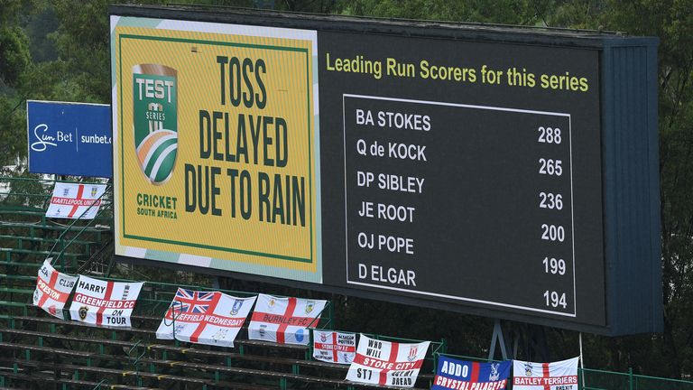 Rain delays play at start of fourth test between Proteas and England