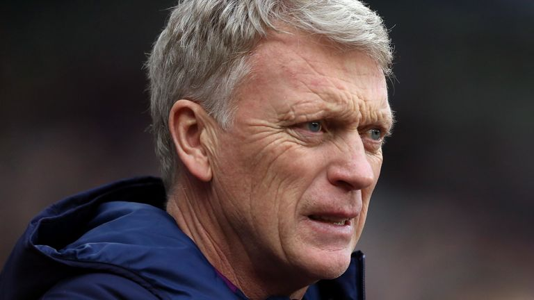 David Moyes' side are currently one point adrift from safety in the Premier League relegation zone