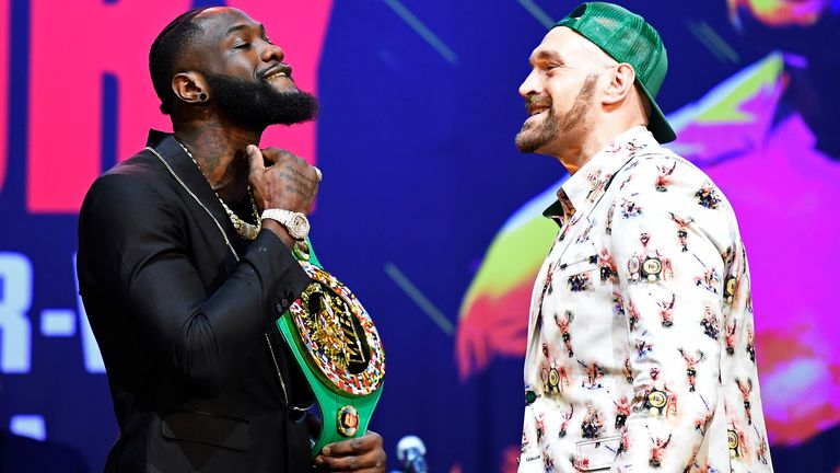 Deontay Wilder defends his WBC belt against Fury on February 22