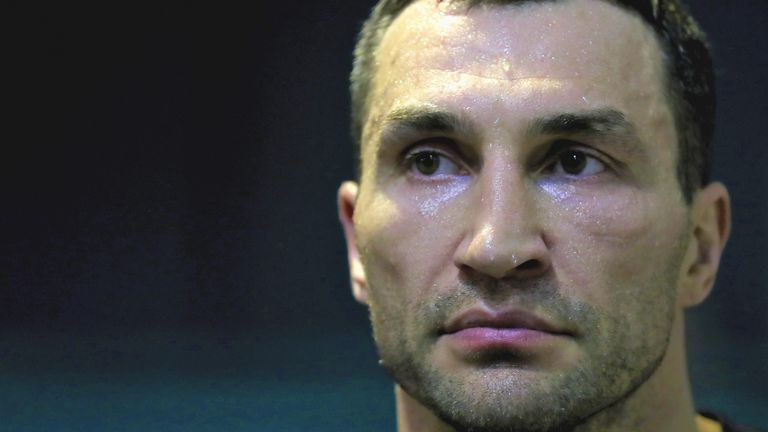 Wladimir Klitschko was preparing to defend his world heavyweight titles