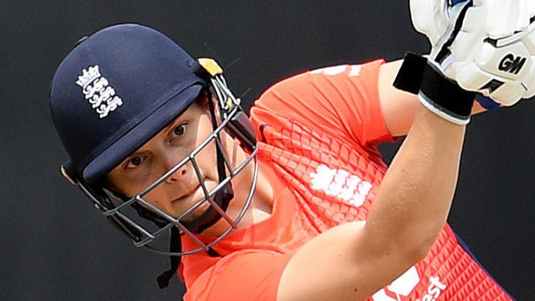 Amy Jones struck nine fours in her 53-ball innings for England Women