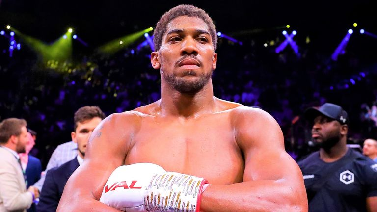 Anthony Joshua was at a function with Prince Charles on March 9