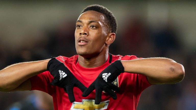 Anthony Martial's Manchester United beat LASK 5-0 in the first leg