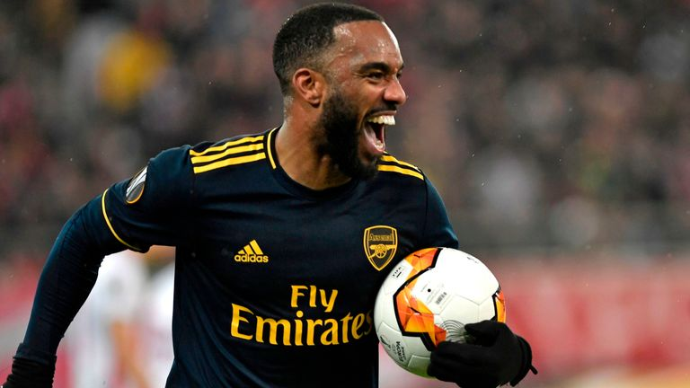 Lacazette scored against Newcastle and Olympiacos after enduring a drought in front of goal