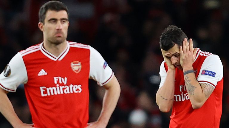Arsenal were beaten in the 119th minute by Olympiakos in the Europa League last 32