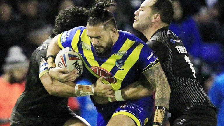 Roxy's husband Ben Murdoch-Masila in action for Warrington