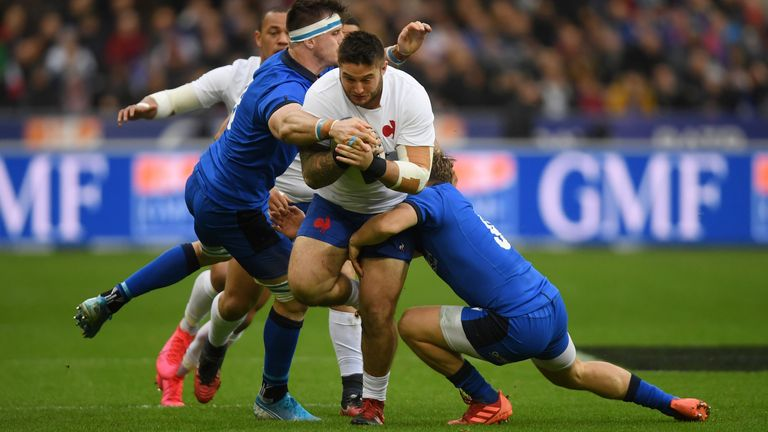 Cyril Baille carries strongly for France