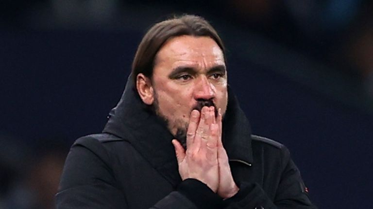 Daniel Farke's side are seven points adrift with just five games remaining