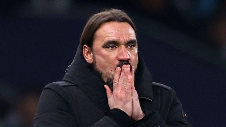 Daniel Farke admits Norwich are all but down