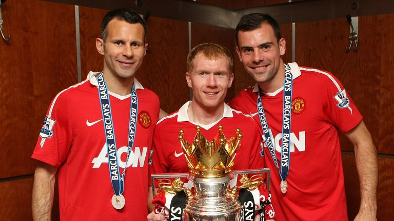 Gibson won the Premier League title with Manchester United in 2011