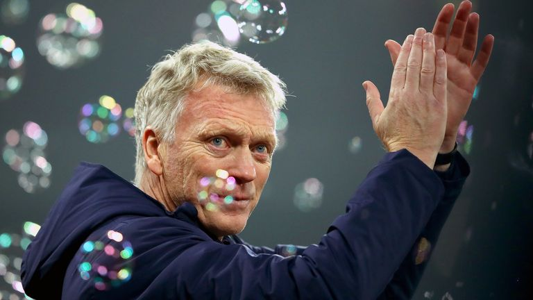 David Moyes is in his second spell as manager of West Ham