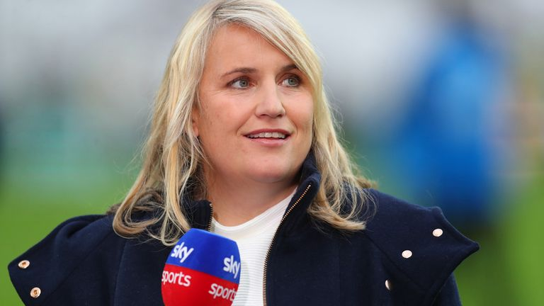 Chelsea Women head coach Emma Hayes told The Football Show she is 'extremely happy' at the club with Phil Neville likely to step down as England head coach
