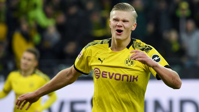 Erling Braut Haaland of Borussia Dortmund was heavily linked with a January move to Manchester United