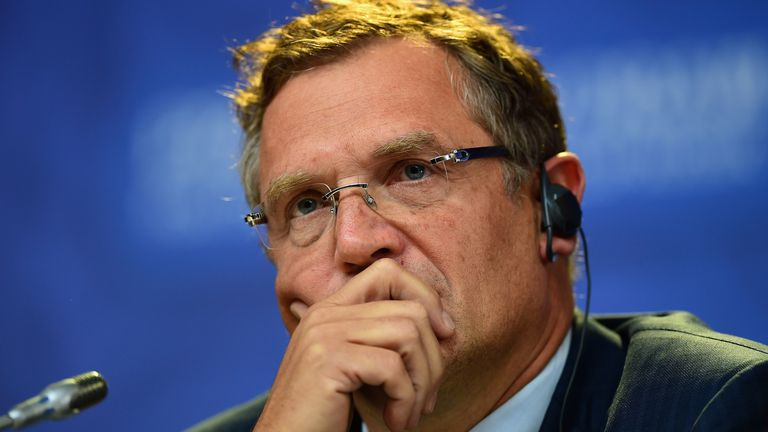 Former FIFA secretary general Jerome Valcke is serving a 10-year ban from playing soccer