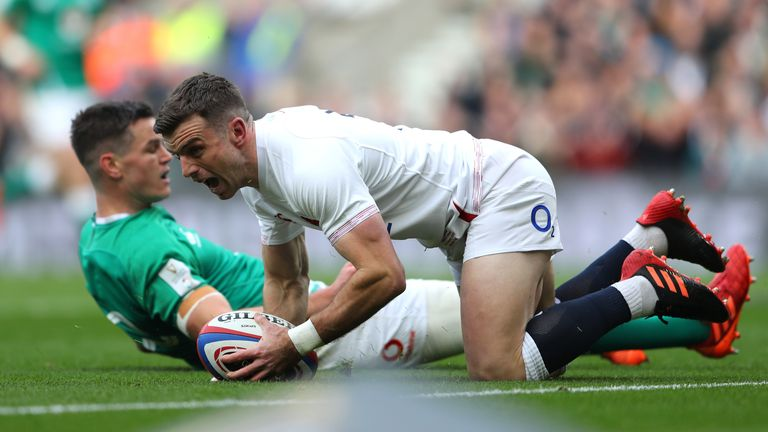 George Ford notched the opening try on nine minutes, as Johnny Sexton spilled the ball in-goal