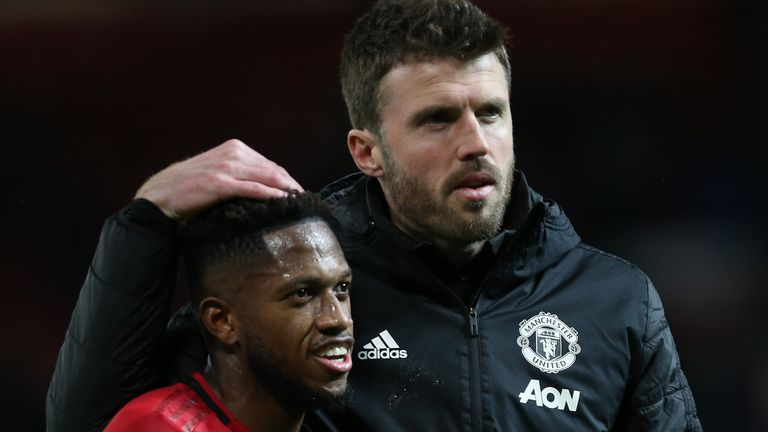 Michael Carrick has been impressed by Fred's progression at Manchester United