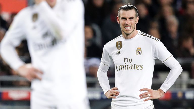 Bale has scored three goals and provided two assists for Madrid this season