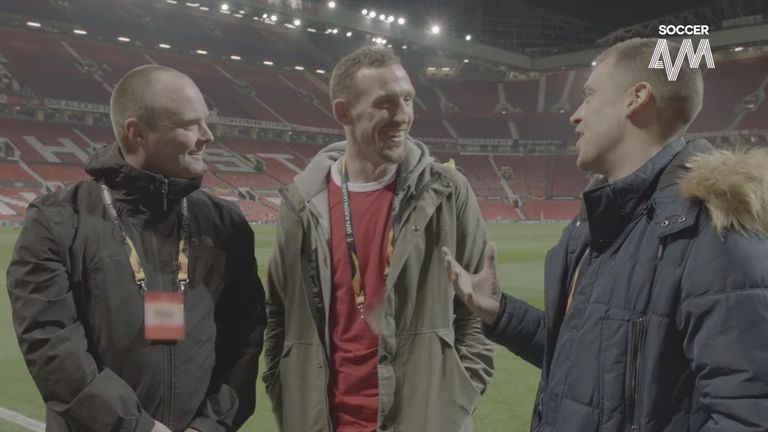 Tubes and Smithy gave super fan Brian the star treatment at Old Trafford, courtesy of Hankook Tyres