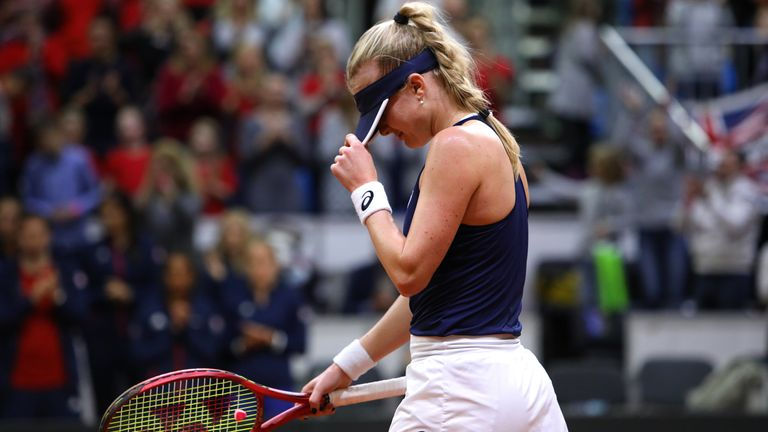 Harriet Dart was beaten in the fourth rubber that ensured Slovakia secured a place in the Fed Cup Finals this year