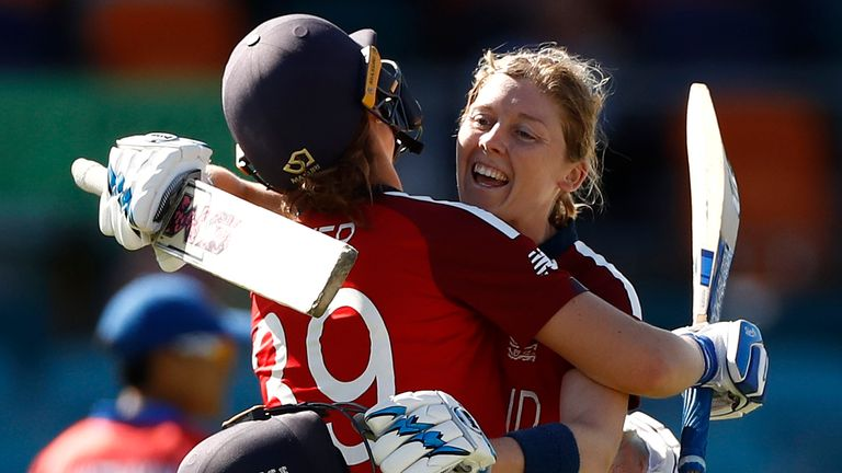Heather Knight and Nat Sciver starred in England's middle order