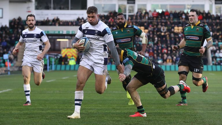 Henry Purdy sparked Bristol's fightback with a try