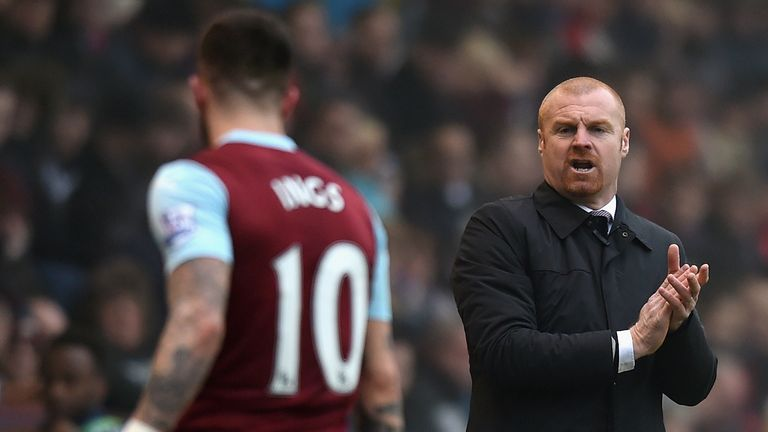 Sean Dyche and Danny Ings earned promotion to the Premier League during their time together at Burnley