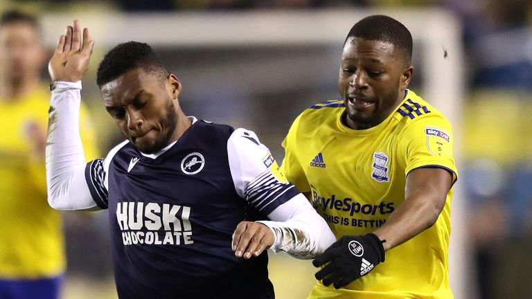 Birmingham's Jeremie Bela (right) was allegedly racially abused during Wednesday's 0-0 draw at Millwall