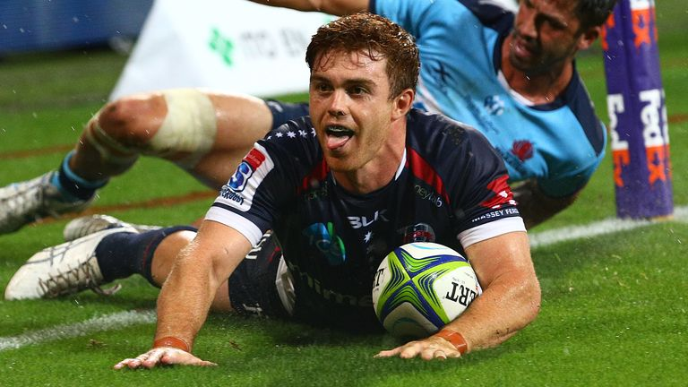 Andrew Kellaway scored two late tries as the Rebels saw off the Waratahs