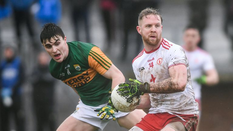 Tyrone prevailed over Kerry in tricky conditions