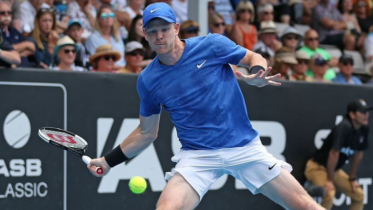Kyle Edmund began his quest for the New York Open title with victory over Yasutaka Uchiyama